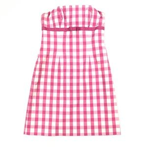 Lilly Pulitzer pink and white gingham dress sz 0